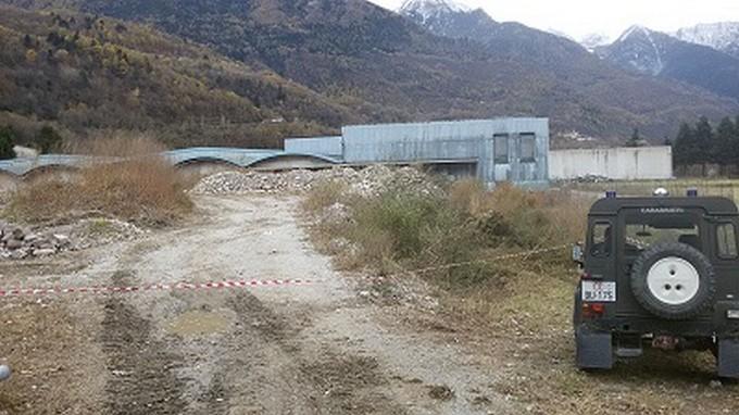 Ceto, duemila metri quadri sotto sequestro per illecita gestione di rifiuti edili
