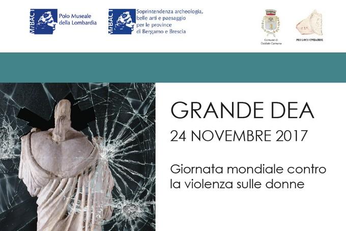 """""""Grande dea"""", nella giornata mondiale contro la violenza sulle donne una conferenza al Museo Archeologico di Cividate Camuno"""
