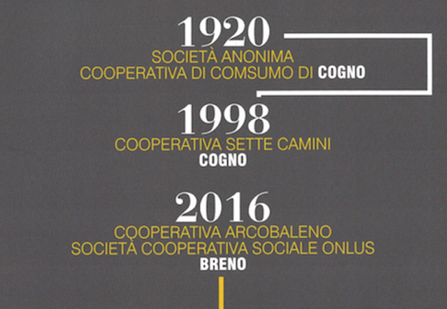 1920-2016: la Società Anonima Cooperativa di Consumo di Cogno, Sette Camini e e la Cooperativa Arcobaleno di Breno