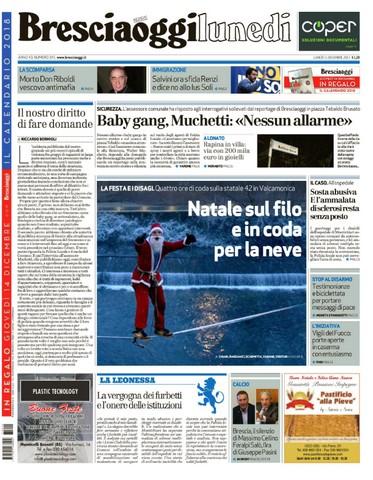 Rassegna stampa quotidiani locali 11 dicembre 2017