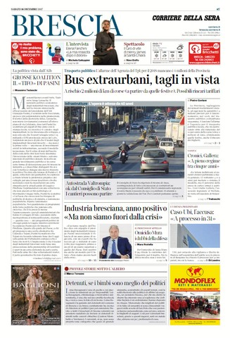 Rassegna stampa quotidiani locali 16 dicembre 2017