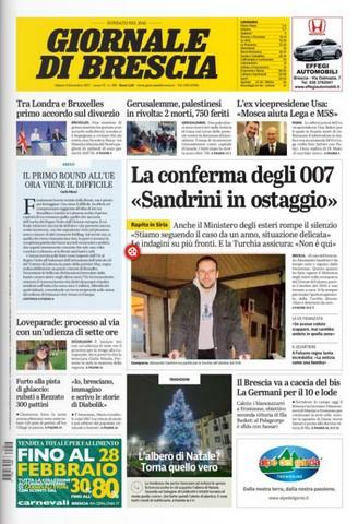Rassegna stampa quotidiani locali 9 dicembre 2017