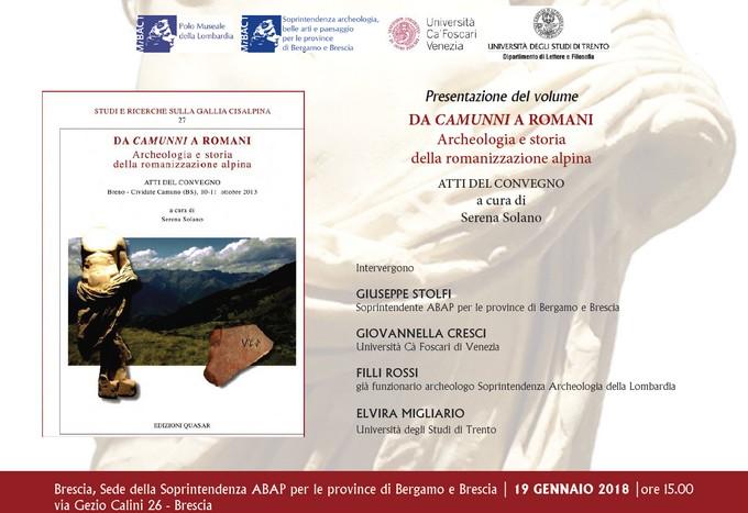 Da Camunni a Romani: a Brescia un convegno sulla romanizzazione della Vallecamonica