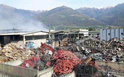 La Regione in visita alla Valcart a sei mesi dal rogo