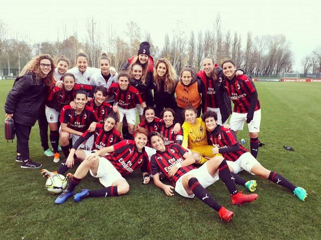 Il Milan femminile in ritiro a Pontedilegno con Maurizio Ganz