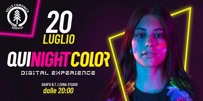 """""""Qui Night Color"""", Darfo colora il sabato sera"""