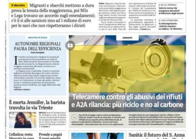 Oggi sui giornali locali (work in progress)