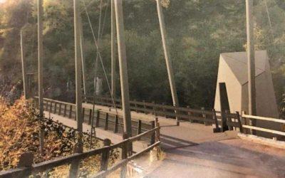 Ceto, smantellato il ponte bailey, arriva quello definitivo