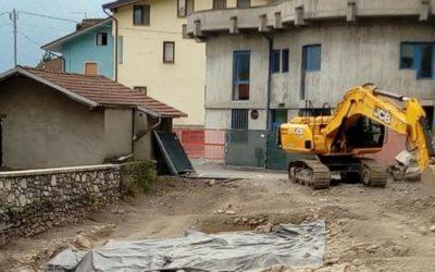 Ono San Pietro, riapre il cantiere in centro dopo gli scavi archeologici