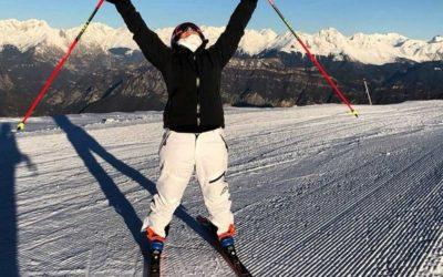 Elena Fanchini torna sugli sci nella sua Montecampione
