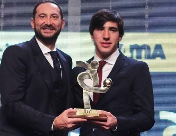 Brescia, Sandro Tonali premiato al Gran Galà del Calcio