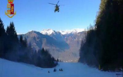 Discesa pericolosa per una sciatrice a Montecampione