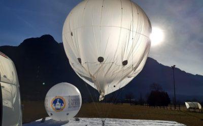 """Una """"mongolfiera"""" a Vione per analizzare l'aria di montagna"""