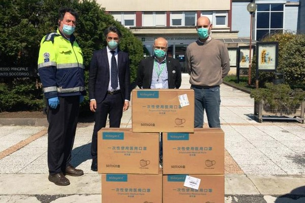 La Cina recapita 30mila mascherine alla Vallecamonica