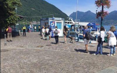 Domenica post-lockdown sul lago d'Iseo: tanta gente, rispetto delle regole e qualche incivile
