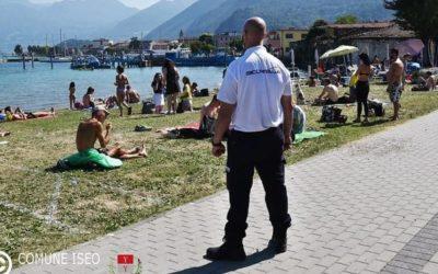 Iseo, per vigilare sugli assembramenti in spiaggia arrivano gli stewards