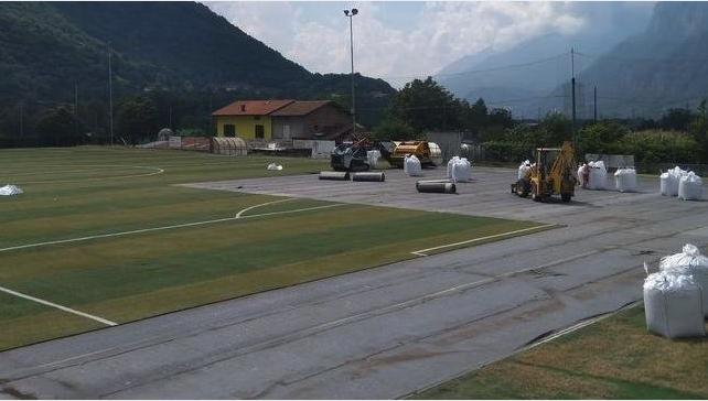 """L'Eden Esine non """"trasloca"""": sistemato il campo di calcio del Comune"""