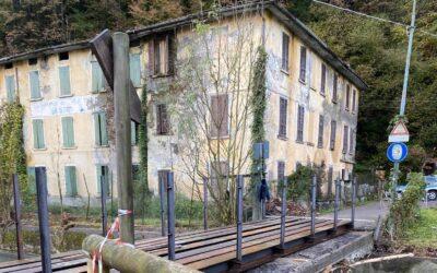 Edolo, riaperta la strada del Faeto dopo la posa del nuovo ponte del Lazzaretto