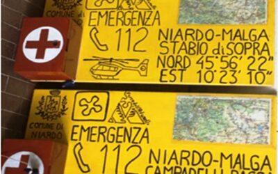 Pannello Amico, presidi di primo soccorso nelle sette malghe comunali di Niardo