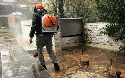 Boario, volontari al lavoro per pulire le fontane davanti alla Terme