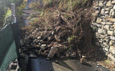 Ancora evacuata la villetta a Gorzone; causa smottamento chiusa anche strada a Piancogno