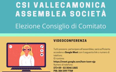 Domenica le elezioni online per il rinnovo del Consiglio di Comitato del CSI Vallecamonica