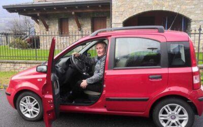 Un'auto per Giacomo Gazzoli grazie alla solidarietà dei compaesani