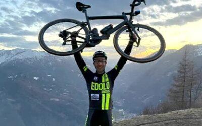 Mauro De Marie sfida se stesso con l'Everesting sul Monte Colmo