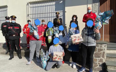 Un'altra dolce Pasqua per gli ospiti della Casa del Fanciullo di Darfo, grazie alla Croce Rossa di Breno ed ai carabinieri
