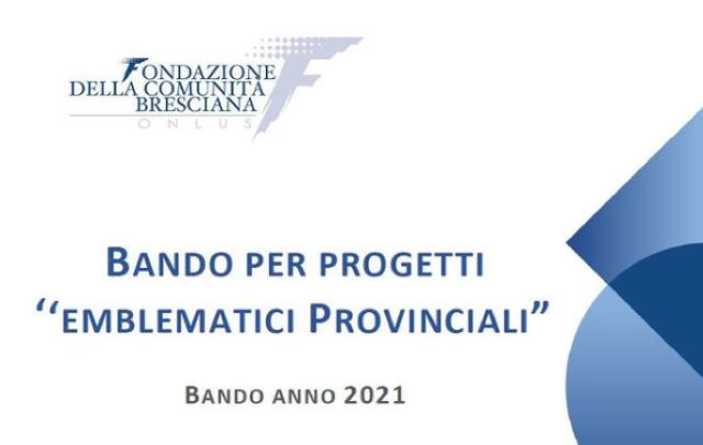 """La Fondazione Comunità Bresciana e la Fondazione Cariplo insieme per gli """"interventi emblematici provinciali"""""""