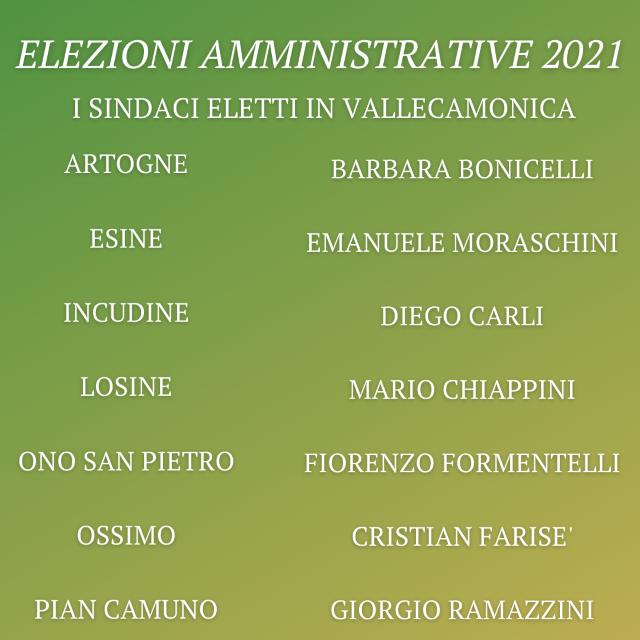 """Elezioni Amministrative 2021, """"riconferma"""" è la parola d'ordine in Vallecamonica"""